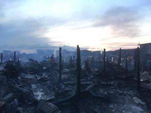 Suasana selepas kebakaran